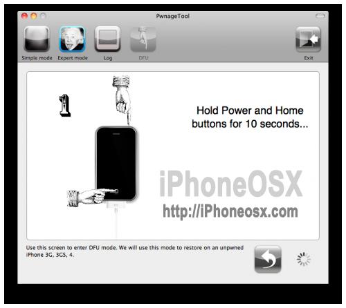Poniendo el iPhone en modo DFU