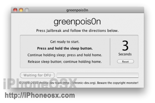 Greenpois0n RC iOS 4.2.1 2