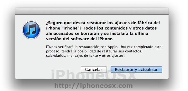 Manual para restaurar el iphone