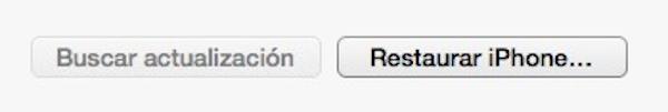 Cómo restaurar el iPhone