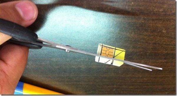 Como recortar tarjetas microsim o nanosim para iphone 4 4s y 5 - Couper une micro sim en nano sim ...