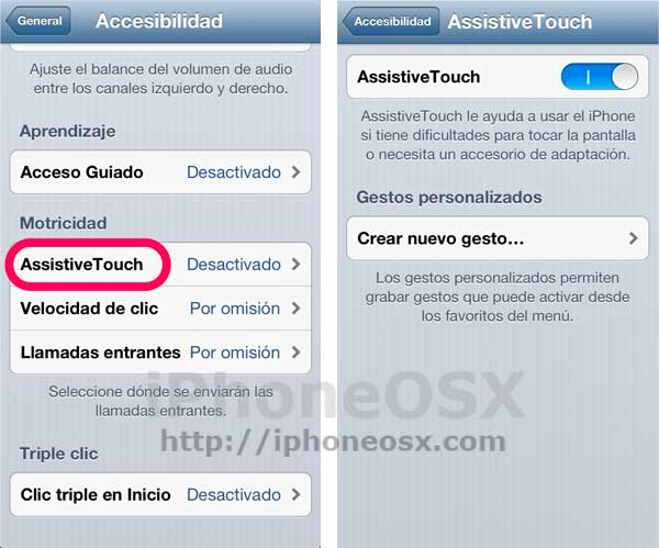 Acceso a AssistiveTouch