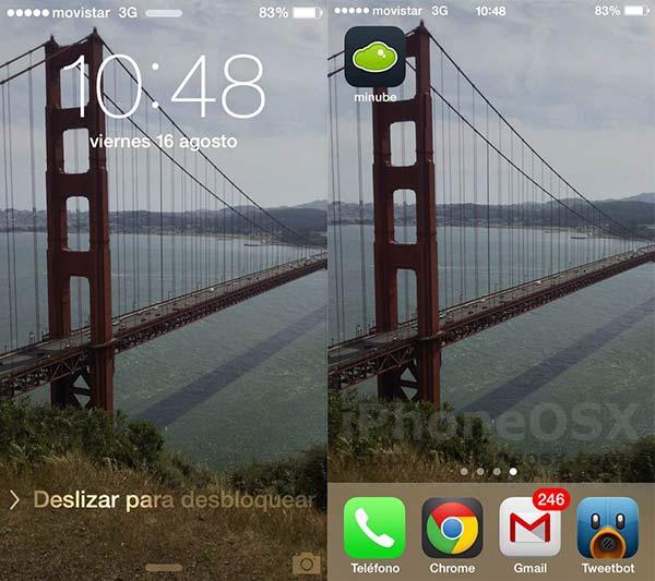 Cómo usar un fondo de pantalla Paralax con iOS 7 en el iPhone