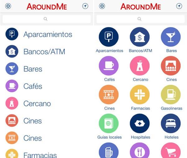 AroundMe para iOS 7
