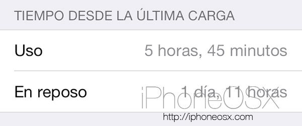 Autonomía del iPhone 5S