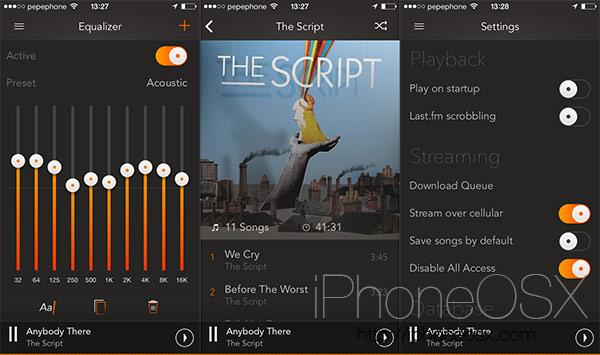 Análisis de la aplicación gMusic 2 para Google Play Music en iPhone