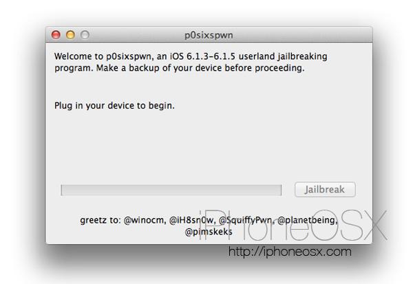 Jailbreak del iPhone con iOS 6.1.3, 6.1.4 o 6.1.5
