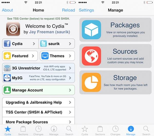 Cydia se actualiza a iOS 7 con la versión 1.1.9