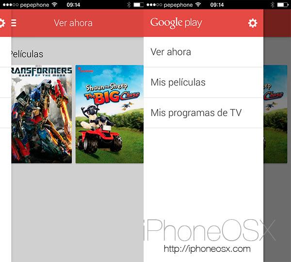 Ya está disponible Google Play Movies para el iPhone en la AppStore
