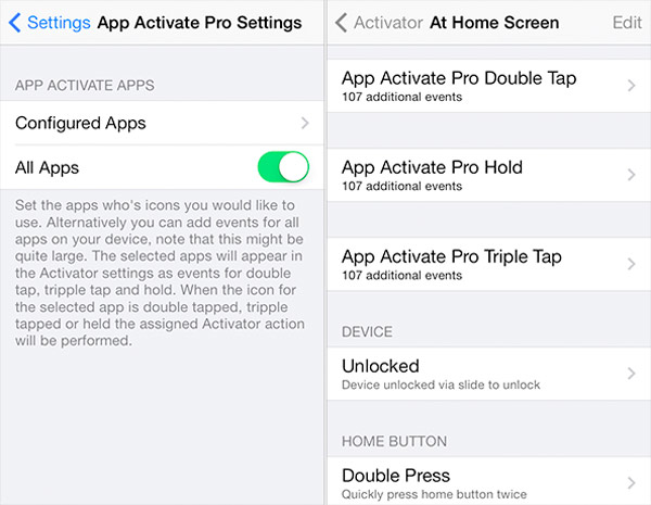 Añade funciones a los iconos de escritorio con App Activate