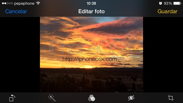Recortar desde el iPhone las fotografías