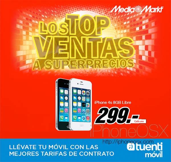 iPhone 4S por 299 libre con Tuenti Móvil