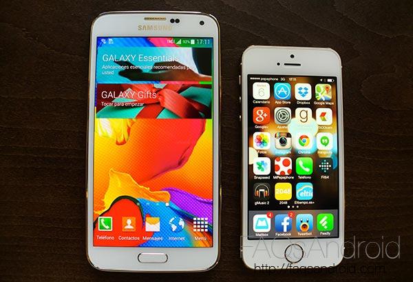 iPhone 5S contra Samsung Galaxy S5: comparativa en vídeo