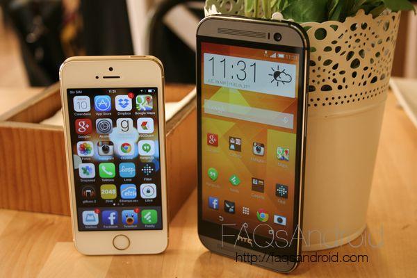 iPhone 5S vs M8