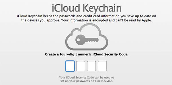 Dos pasos en la cuenta de iCloud