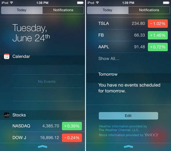 Tweak Notific8: el centro de notificaciones de iOS 8 en el iPhone