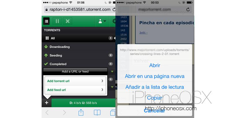 Como acceder a uTorrent de manera remota desde el iPhone