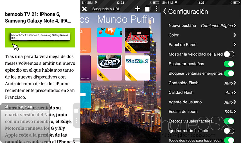 Puffin Web Browser, el navegador flash para iPhone más rápido