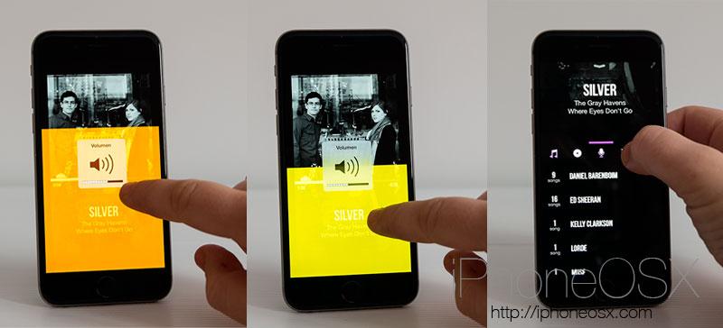 Reproductores con gestos para iOS